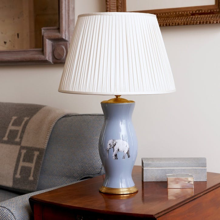 'The Elephant In The Room' Lamp Base, Powder Blue