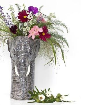 Elephant Flower Vase, H28cm