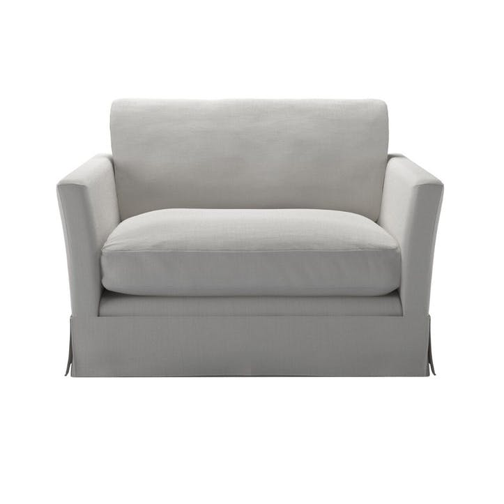 Otto, Loveseat, Alabaster Brushed Linen Cotton