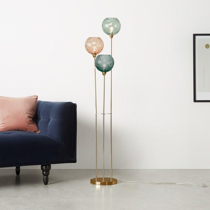 Llaria triple foor lamp, H84 x W259 x D100cm, Multi