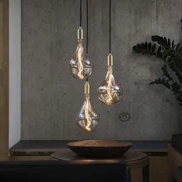Voronoi II Tinted Bulb LED 3W 2200K E27  H30 x W17cm Clear