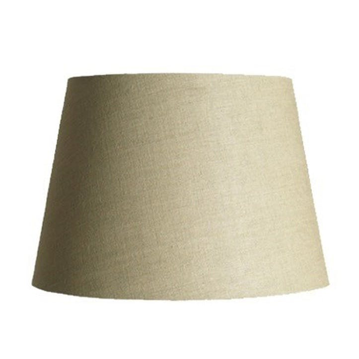 Straight Empire Shade in Natural Linen, 40cm