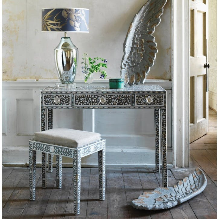 Mother of Pearl Grey Console Table