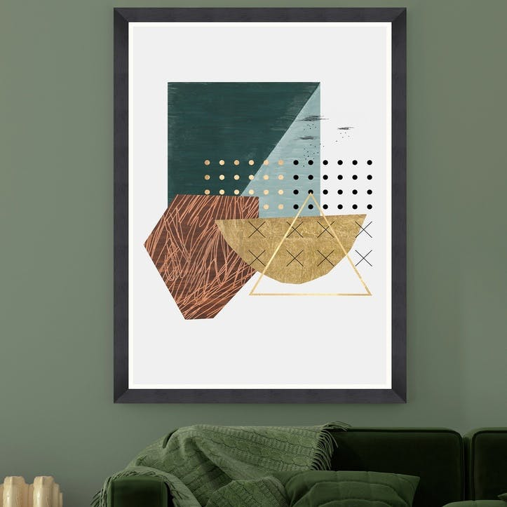 Atempt Black Framed Print, 70 x 100cm