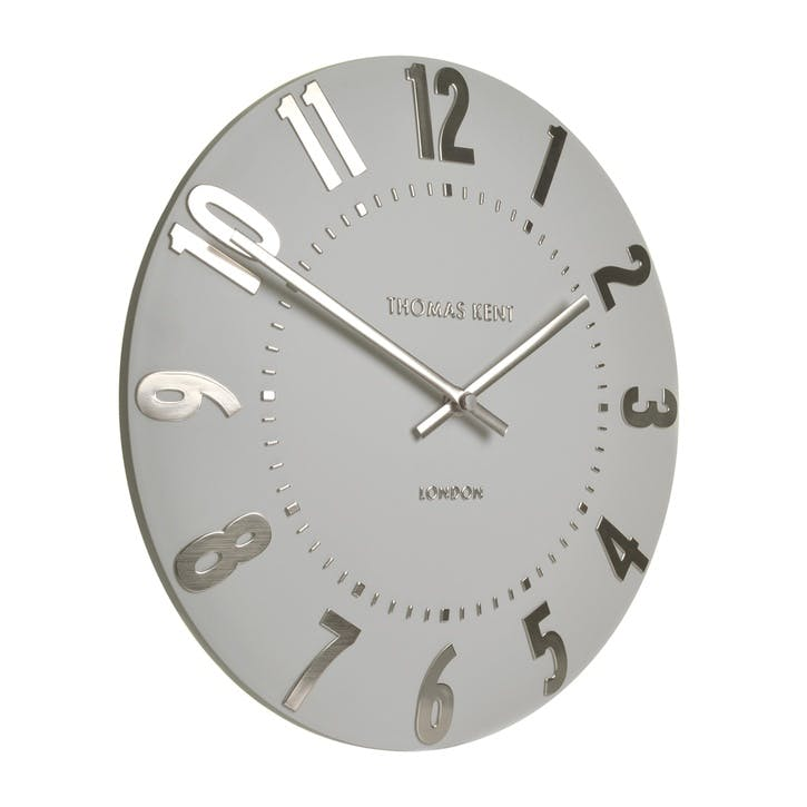 Mulberry Clock, 51cm, Silver Cloud