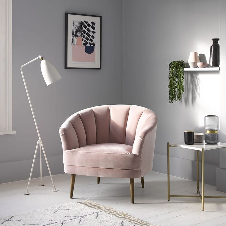 Harper, Armchair, Rhubarb