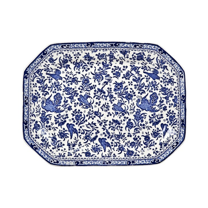 Regal Peacock Rectangular Dish, 34cm, Blue