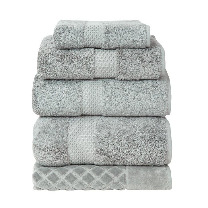 Etoile Bath Towel, Platine