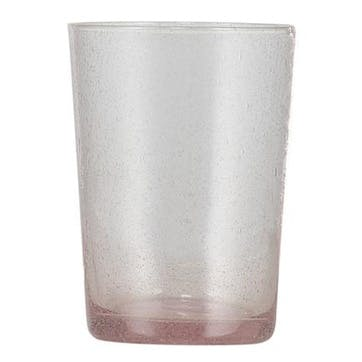 Old Rose Glass Tumblers, Set of 6