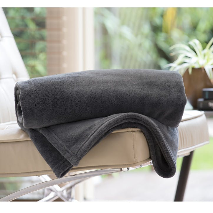Snuggle Touch Throw; Charcoal