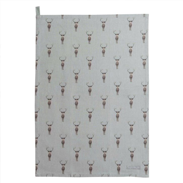 'Highland Stag' Tea Towel