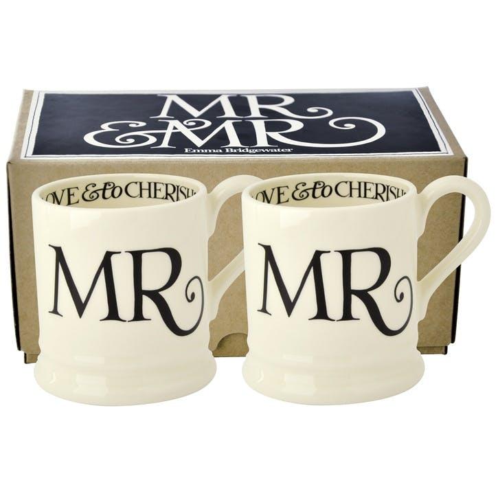 Black Toast Mr & Mr Mug Set