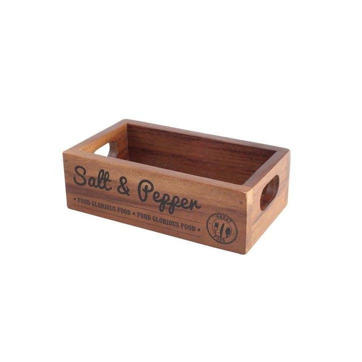 'Food Glorious Food' Salt & Pepper Crate