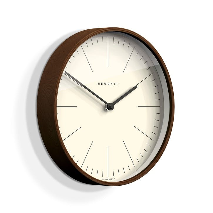 Mr Clarke Wall Clock, Dia. 53cm, Dark Wood