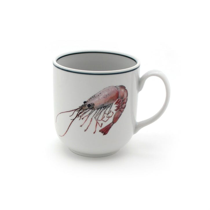 Seaflower Shrimp Mug, 10cm, Pink