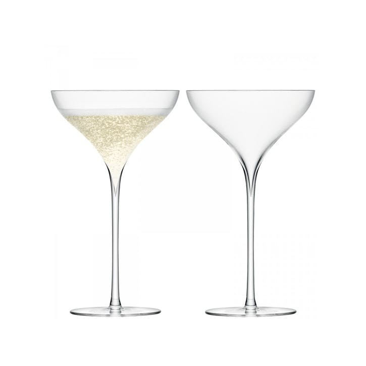 LSA Savoy Champagne Saucer, Set of 2, Clear
