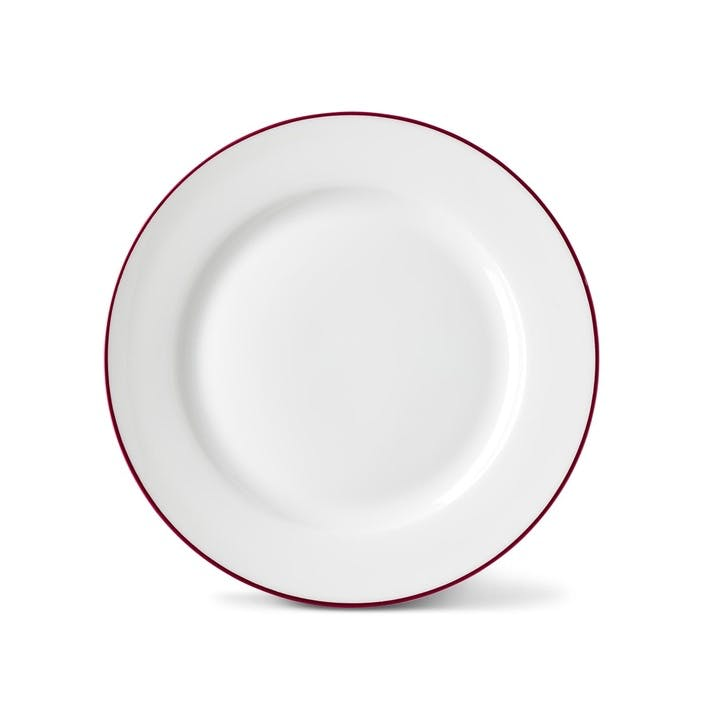 Rainbow Side Plate, Cerise Pink