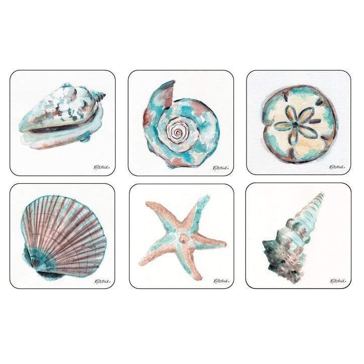 Coastal Shore Coasters, Set of 6