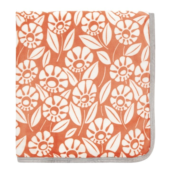 Tivoli Fleece Throw, Coral