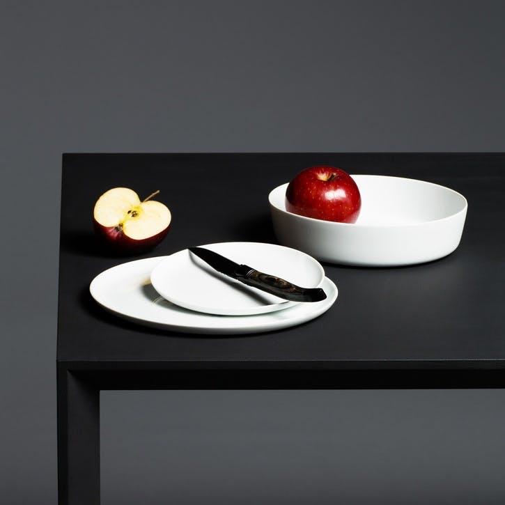 Seven Small Plate, White