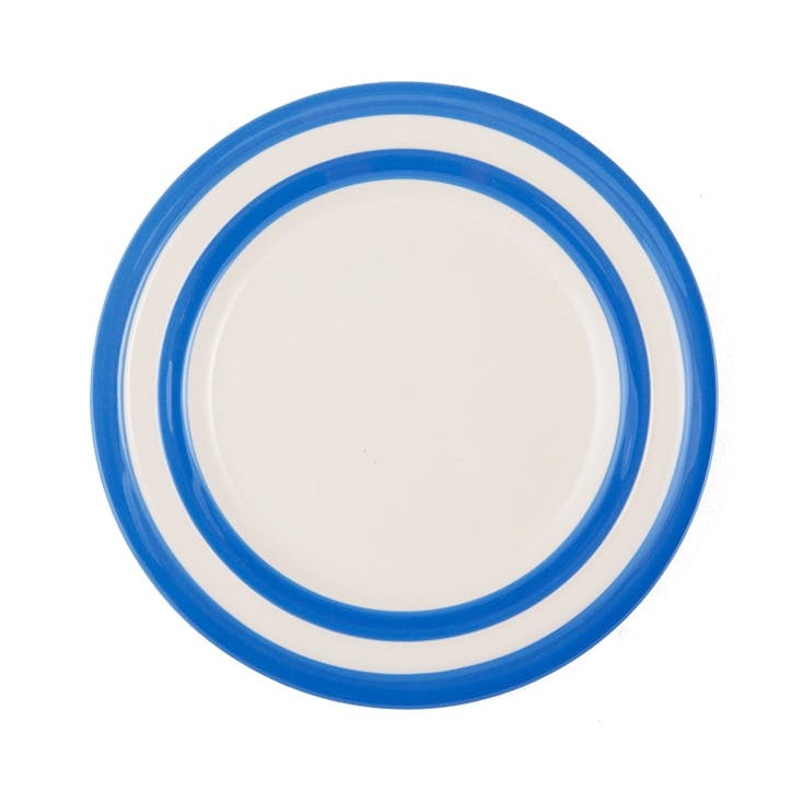 Set Of 4 Main Plates - 28cm; Blue