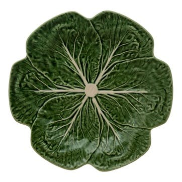 Cabbage Dinner Plates, Set Of 4, 26cm, Green