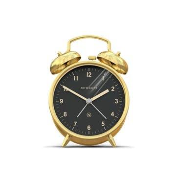 Charlie Bell Alarm Clock, Dia. 9.7cm, Brass