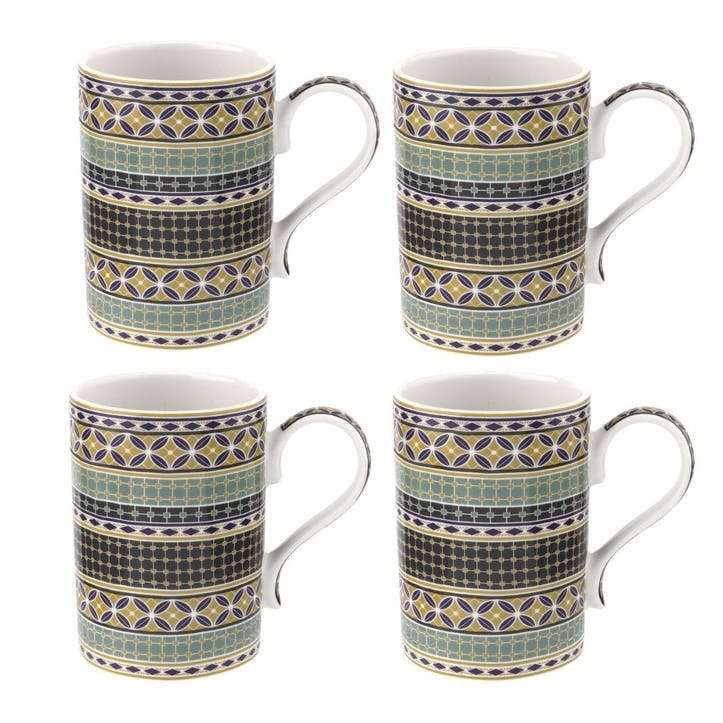 Atrium Geo 12oz Mug, Set of 4