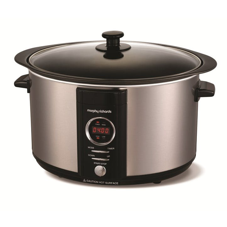 Digital Sear and Stew Slow Cooker - 6.5L; Brushed Steel