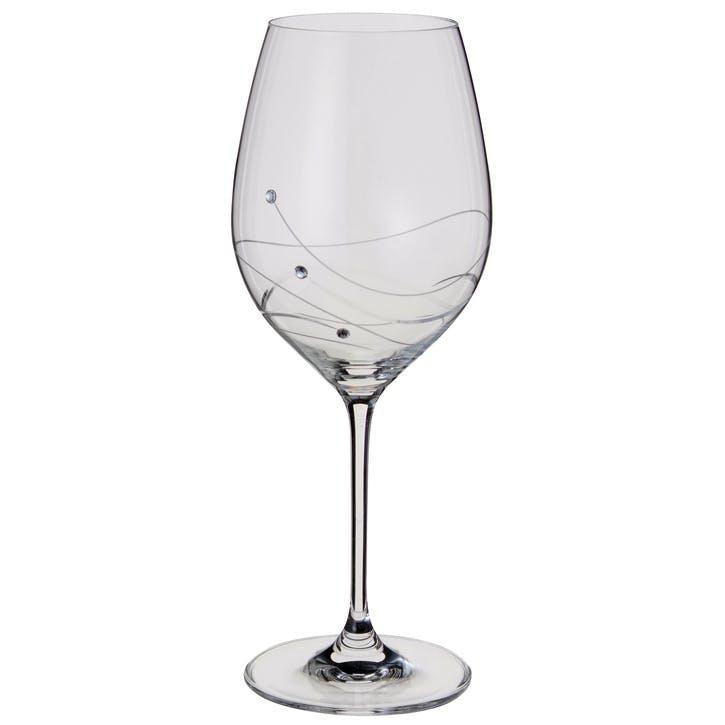 Glitz Goblet Wine Glasses, Pair