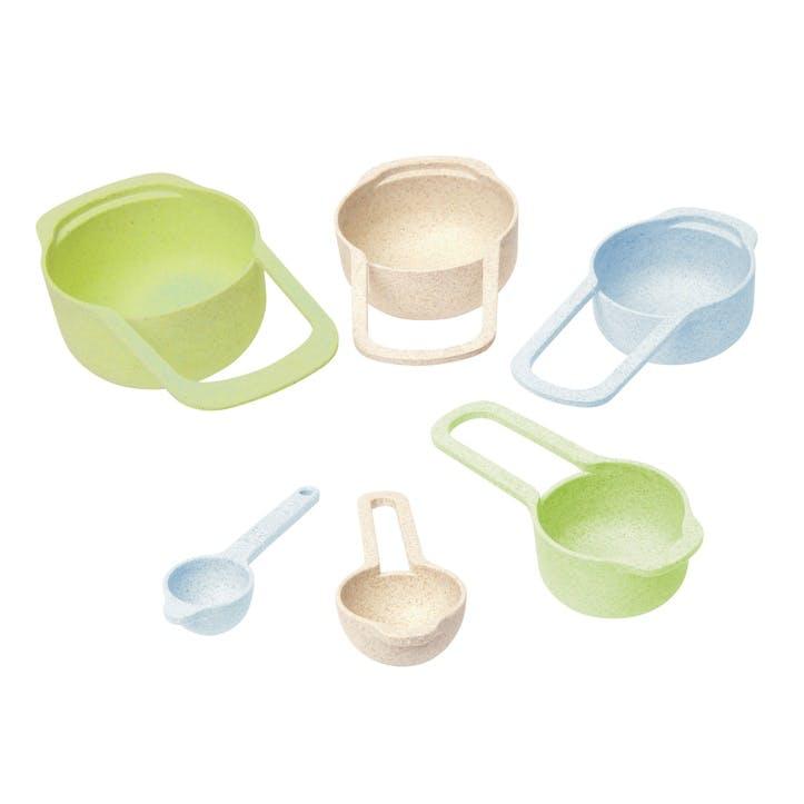 Pastel Wheatfibre Measuring Cup & Spoon Set