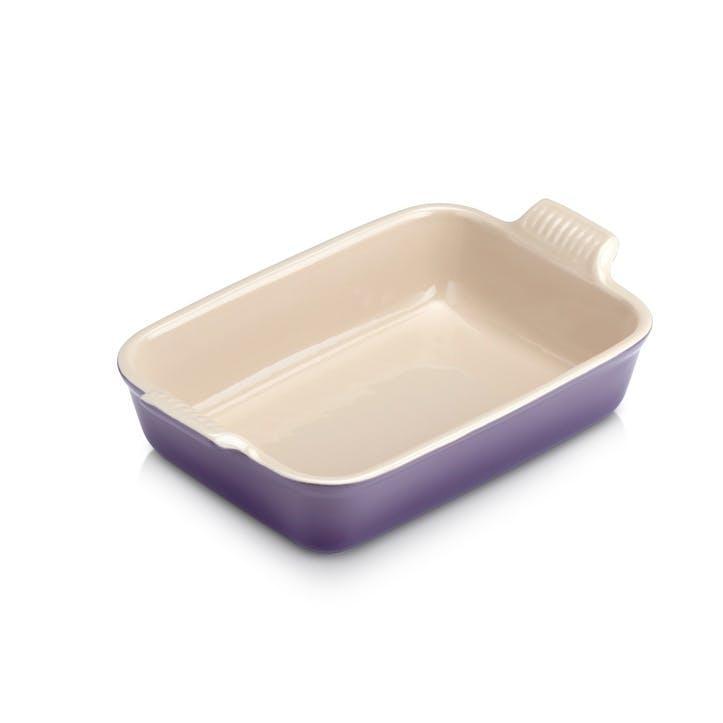 Stoneware Rectangular Dish - 26cm; Ultra Violet