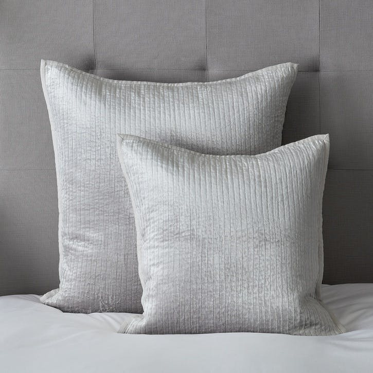 Vienne Cushion Cover, Medium Square, Silver