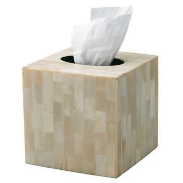 Bone Inlay Square Tissue Box Cover