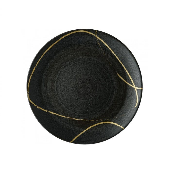 Sketch Charcoal Coupe Side Plate - 21cm