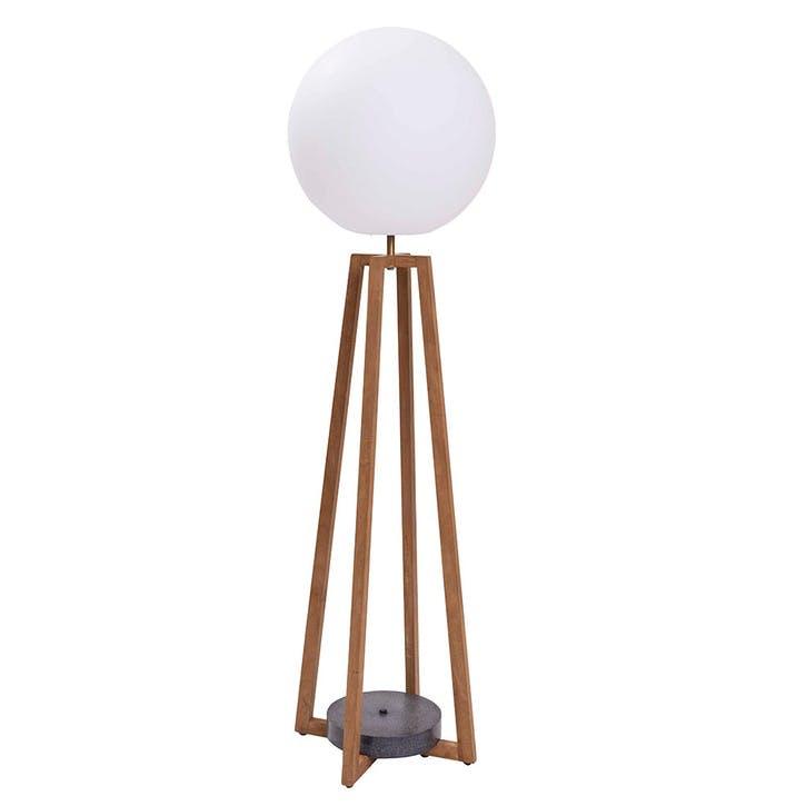 Playa Outdoor Floor Lamp, Teak