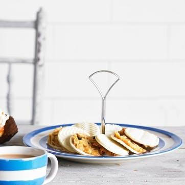 One Tier Cakestand, 25.4cm, Blue