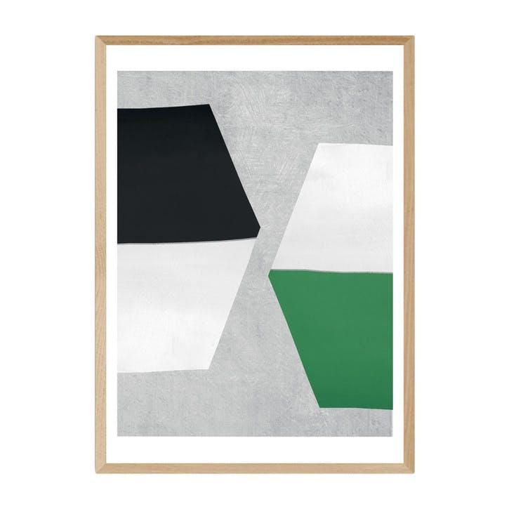 Seventy Tree, Hex, Framed Art Print, H61 x W44 x D2cm, Beige/ Natural