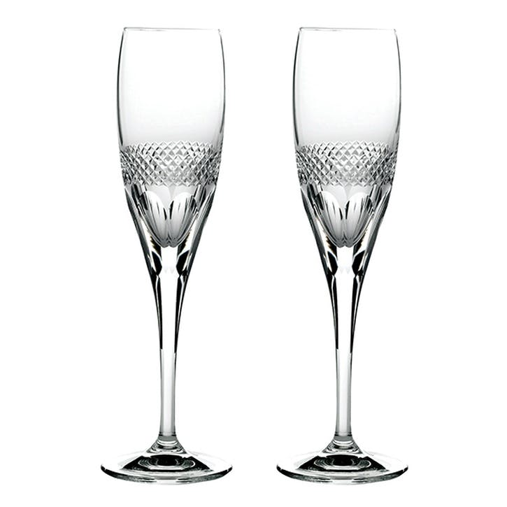 Diamonds Crystal Champagne Flutes, Set of 2