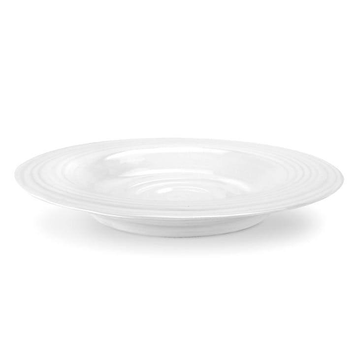 Rimmed Soup Plate, Set of 4; White