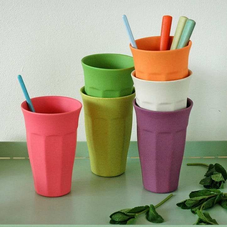 Cupful of Colour Cups Extra Large, Set of 6, Rainbow