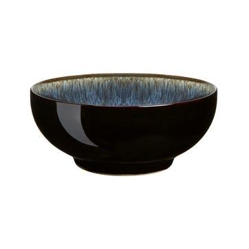 Halo Cereal Bowl, 16cm, Black/ Blue
