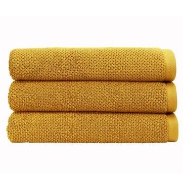 Brixton Pair of Hand Towels, Saffron