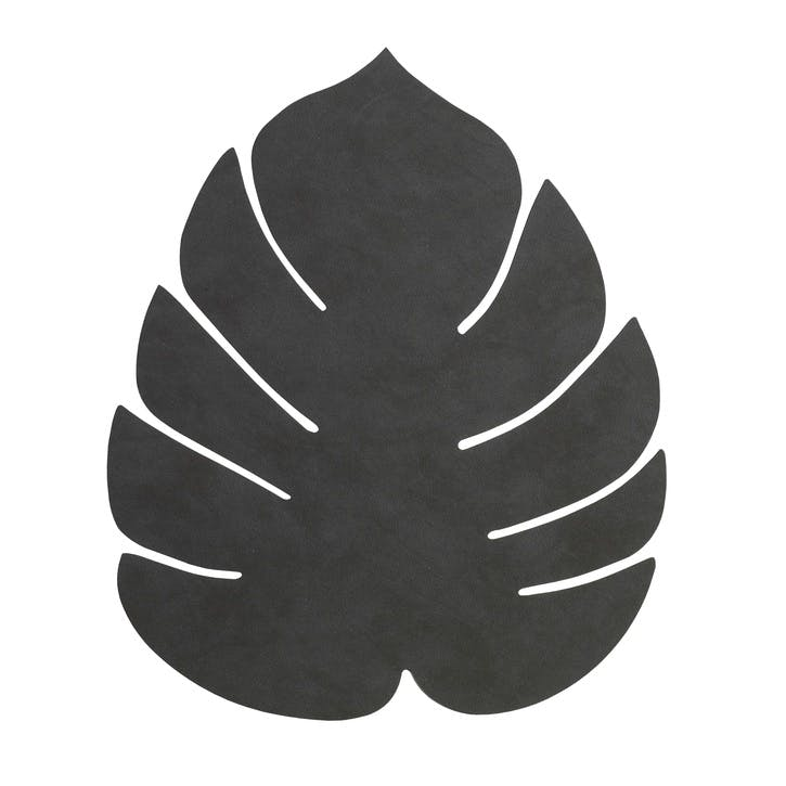 Monstera Placemat, Black, Set of 4