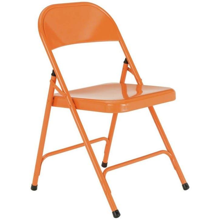 Macadam Folding Chair, Orange