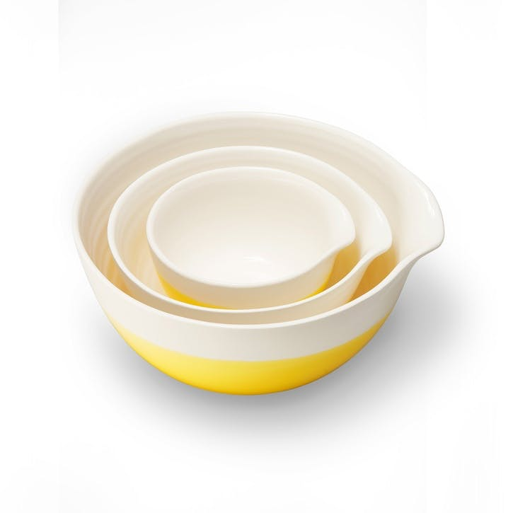 Colour Dip, Nested Bowls, Yellow