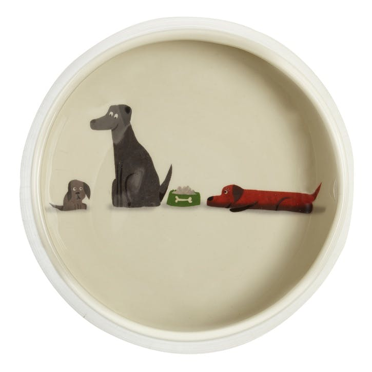 Jolly Family of Labradors Dog Bowl