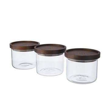 Stackable Glass Storage Jar Set