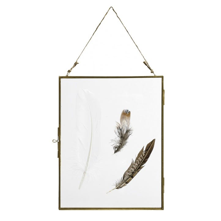 Gold Metal Hanging Frame, Large