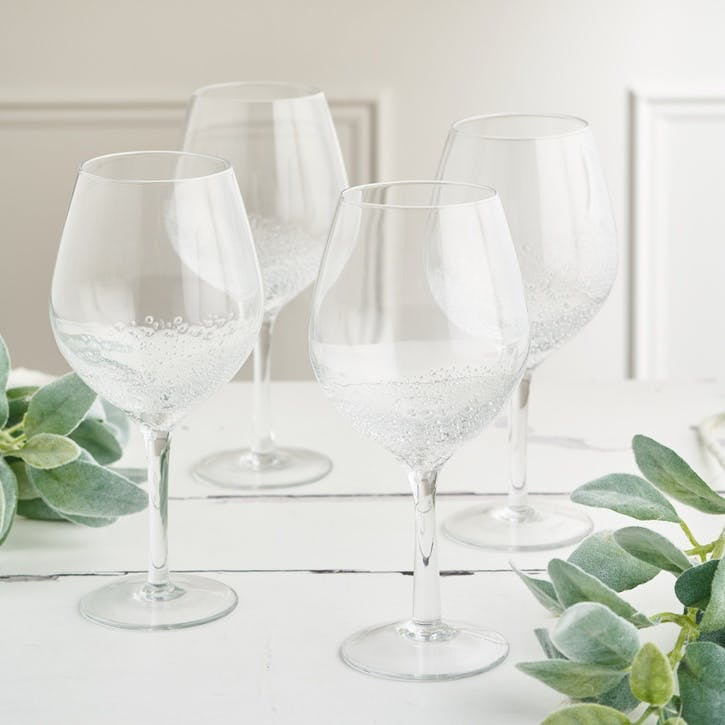 Jewel Bubble Red Wine Glass, Set of 4